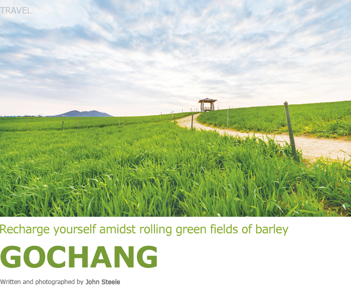 Recharge yourself amidst rolling green fields of barley GOCHANG