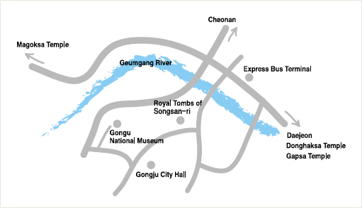 Described above for a map representation of the major attractions is the image.