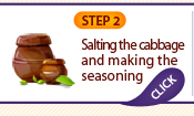 STEP 2: Salting the cabbage and making the seasoning