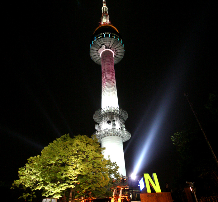 Namsan Tower Exterior Night View Photos