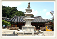 Guryong Temple in front of the stone tower photos