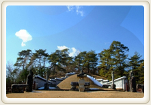 Blue sky and green trees surrounded by Jangneung Tomb photo