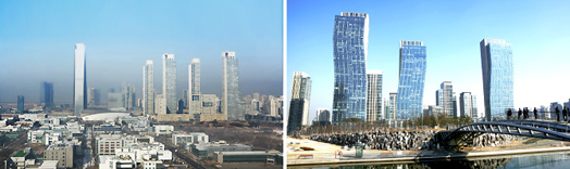 Songdo International City seen from Get Pearl Tower / Central Park