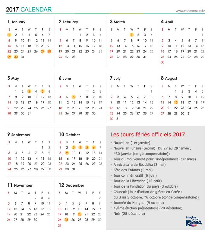 calendrier scolaire coree du sud