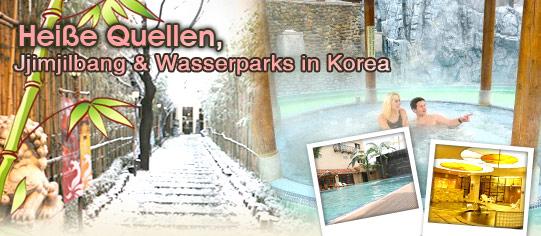 Heiße Quellen, Jjimjilbang & Wasserparks in Korea