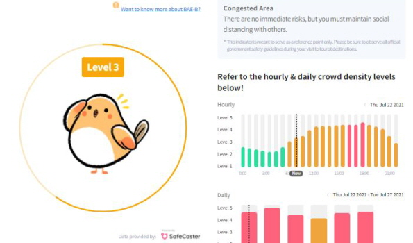 首爾景點哪裡較安全?快來確認首爾旅遊安全指數
