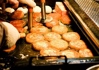 釜山國際市場的菜籽糖餅