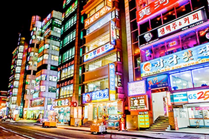 生魚片屋街一景