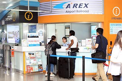 圖片) 仁川機場站第1航廈鐵路諮詢中心
