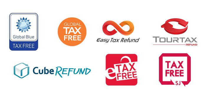 Photo: Logos of companies offering the tax refund service