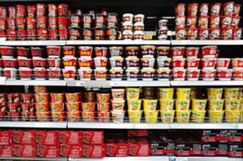 Variety of Korean Cup Noodles