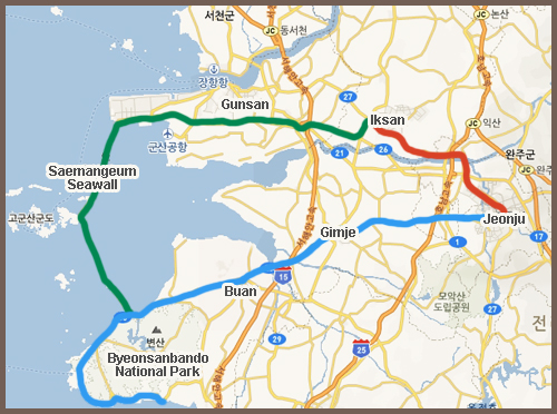 Recommended Trip To The Hanok Village In Jeonju And Byeonsanbando - Jeongju map