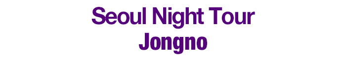 Seoul Night Tour - Jongno