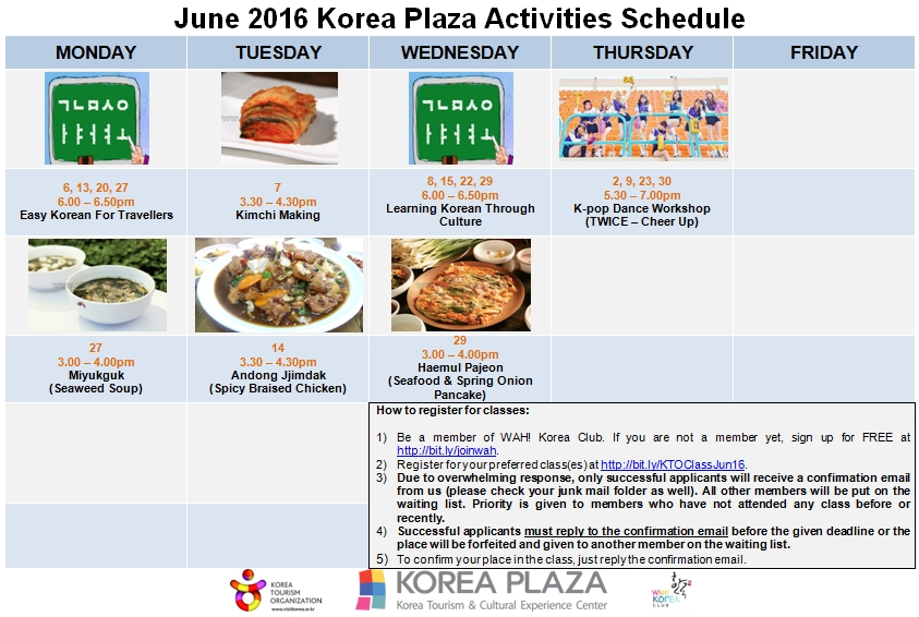 782470f3f9828f Korea Plaza Activities - June 2016