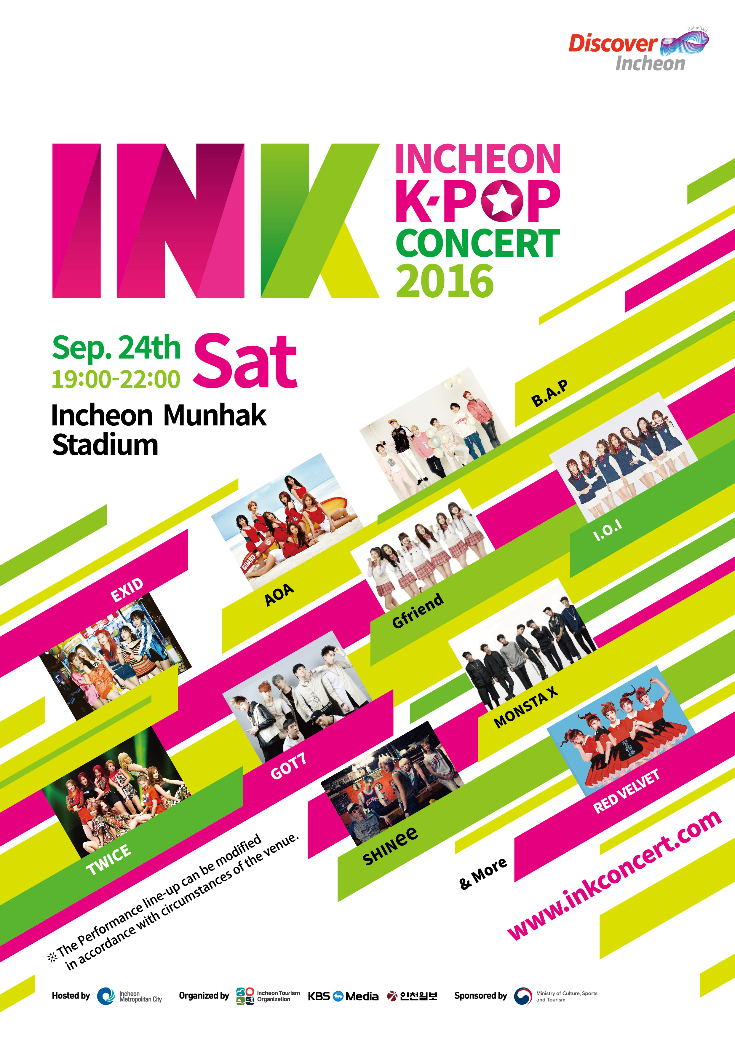 free* Incheon K-POP Concert on 9/24   Official Korea Tourism