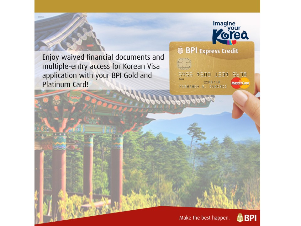 Bpi cardholders multiple entry visa promo official korea - Bank of the philippine islands head office ...