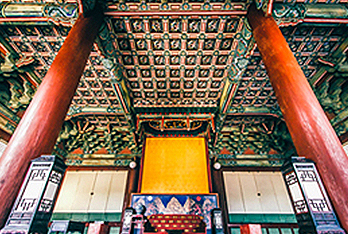Inside view of Injeongjeon Hall