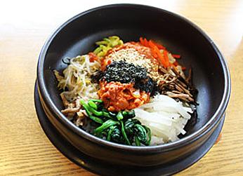 Tuna and kimchi bibimbap