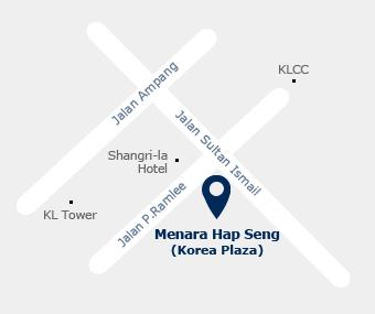 Kuala Lumpur office map picture