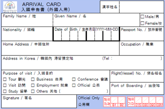 How to Write an Introduction in Korean customs declaration