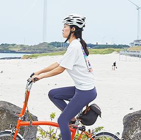 Biking through Jeju Island's beauty