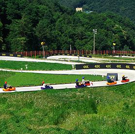 在韓國享受特色休閒活動1 – 體驗真實的跑跑卡丁車「Luge」