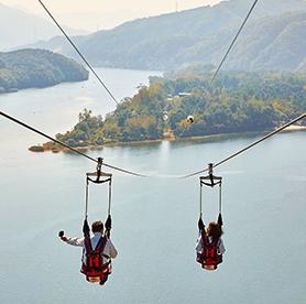 High in the sky – Ziplines in Korea
