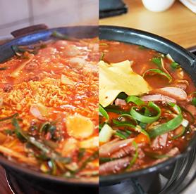 Comparando el budaejjigae de Uijeongbu y el de Songtan