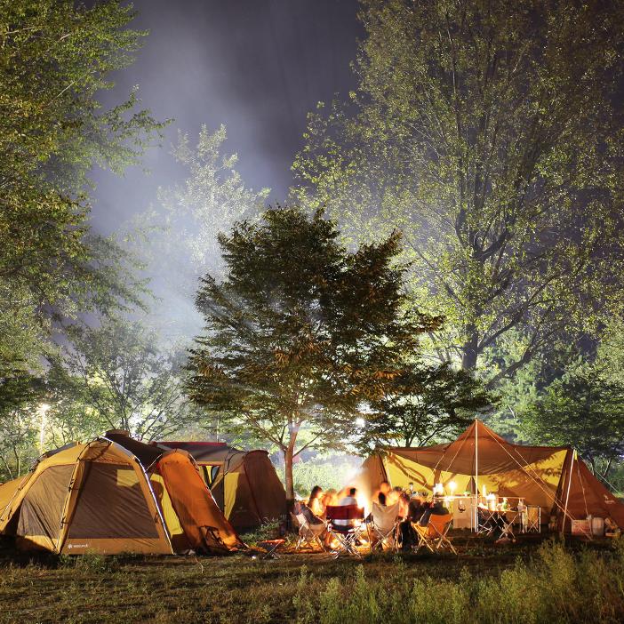 韓国の自然に触れるキャンプ