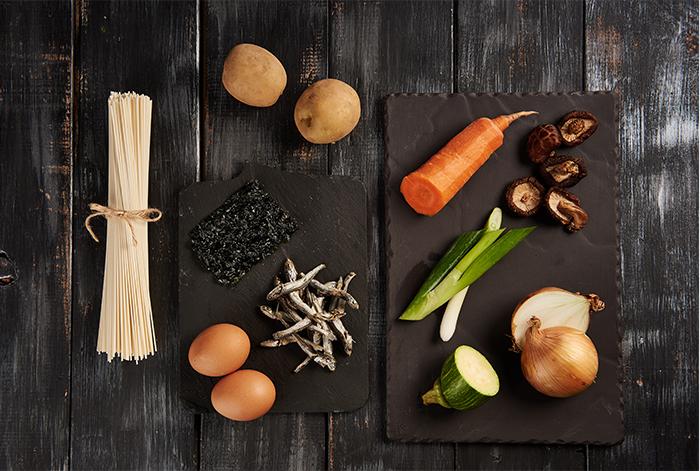 The ingredients of Korean Food