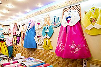 Hanbok specialty stores at Gwangjang Market