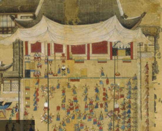조선시대 궁중연회식 그림