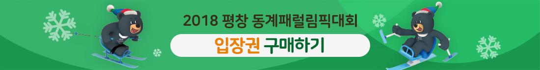 2018 평창 동계패럴림픽대회 - 입장권 구매하기