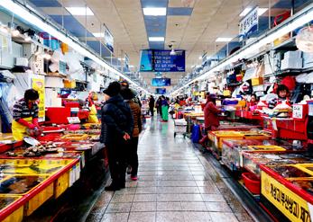 Пусанский рыбный рынок Чагальчхи