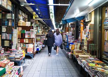 Книжный переулок в районе Посудон