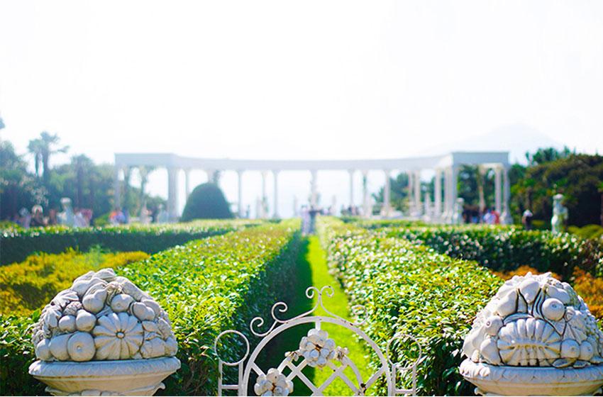 Романтические пейзажи ботанического сада Ведо (Oedo Botania)