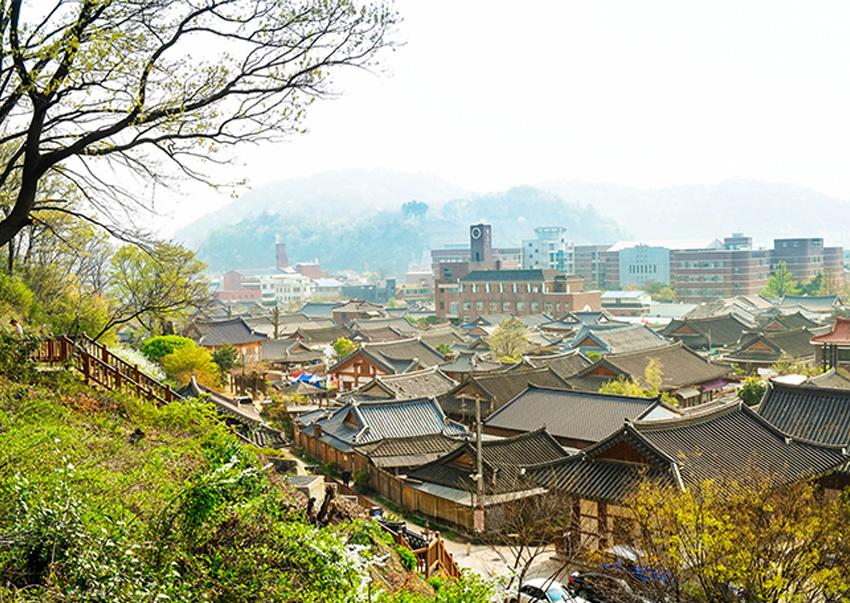 全州韓屋村全景