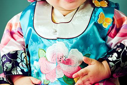 Толь ханбок (Костюм на годовщину ребёнка)