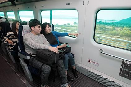 Vista del interior del Tren directo (Cortesía de AREX).