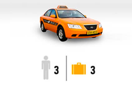 Cortesía de International Taxi is possible max 3 people, 3 luggage