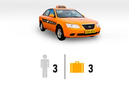Cortesía de International Taxi is possible max 3 people, 3 luggage.