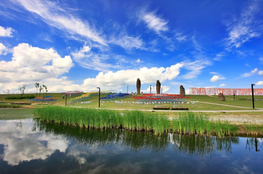 Sitio Turístico Imjingak (Parque Pyeonghwa Nuri) (cortesía: KORAIL)