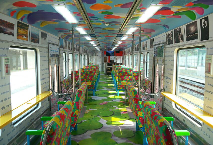 Interior del Tren de la Paz (cortesía de KORAIL)