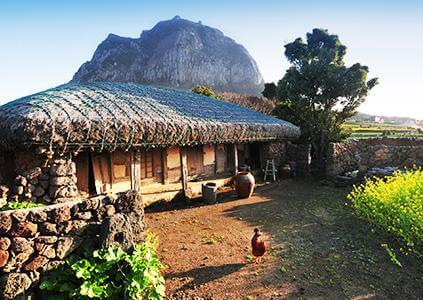 una casa tradicional.
