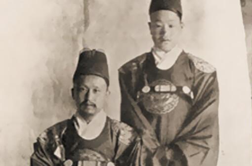 Foto de los reyes Gojong y Sunjong