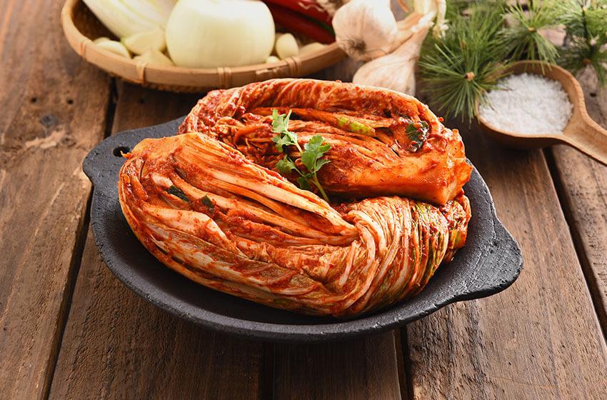 """Ingredientes utilizados en el """"kimchi"""" (col, especias, etc.)"""