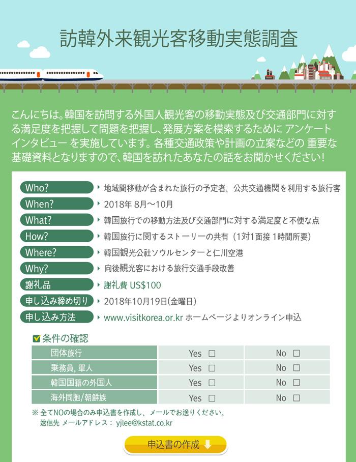 訪韓外来観光客移動実態調査