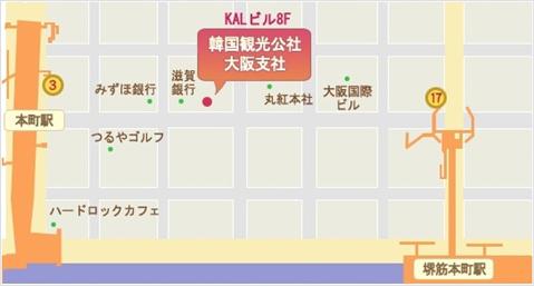 大阪支社アクセスマップ