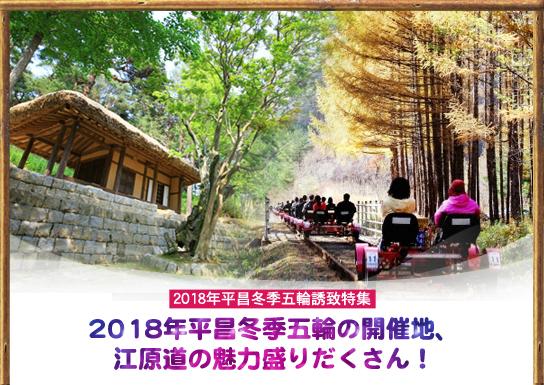 2018年平昌冬季五輪の開催地、江原道の魅力盛りだくさん!
