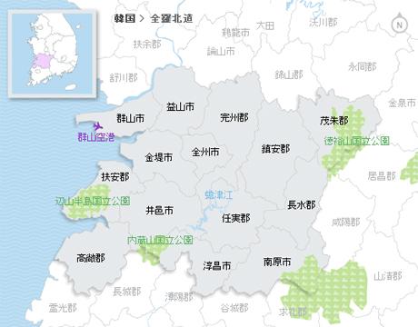 全国自治体マップ検索 | 韓国観...